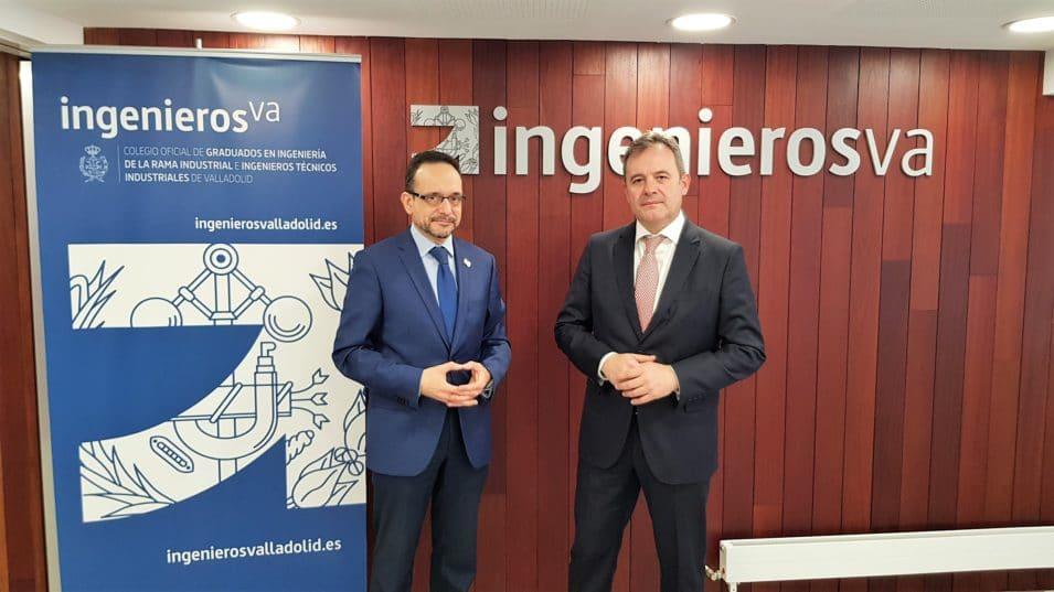 Javier Escribano decano de ingenierosVA y Angel Ortiz director de El Norte de Castilla