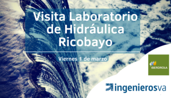 Visita ingenierosVA laboratorio de hidráulica Ricobayo Iberdrola