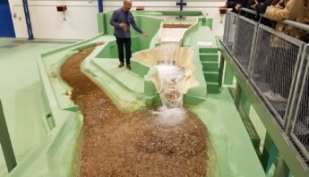 Visita Ricobayo de iberdrola Laboratorio Hidráulica - ingenierosVA