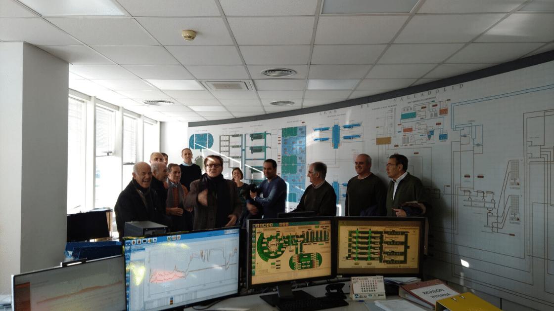 Visita EDAR comisión relaciones con la industria - ingenierosVA