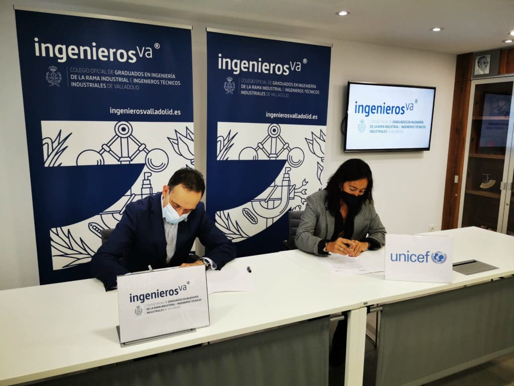 Javier Escribano firma convenio con Unicef - ingenierosVA