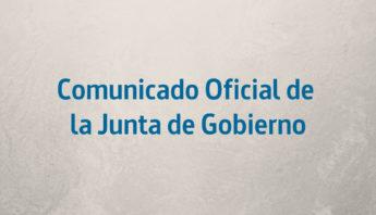 Comunicado oficial de la junta de gobierno - ingenierosVA