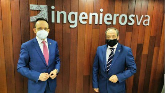 Javier Escribano pasa el testigo a Rafael Álvarez Palla como nuevo decano del Colegio de Ingenieros Valladolid